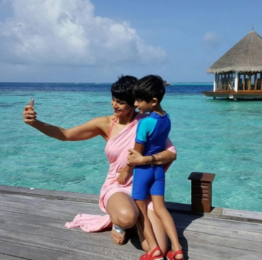Mandira Bedi Holidays In Maldives With Family Photos