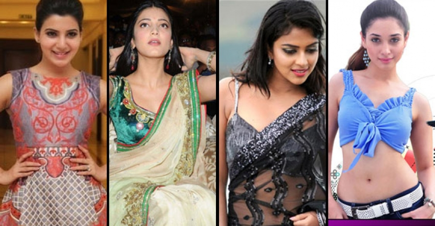 South Indian Actress In Traditional Dress V/s Western Dress Photos