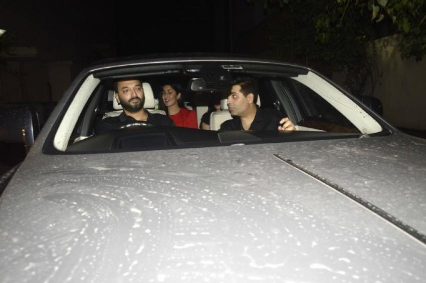Salman Khan, Lulia Vantur & katrina Kaif Spotted At Sultan Screening At Yashraj Photos