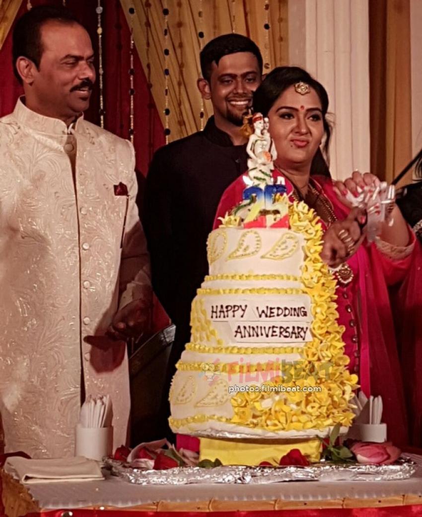 Actress Radha And Rajasekaran 25th Wedding Anniversary