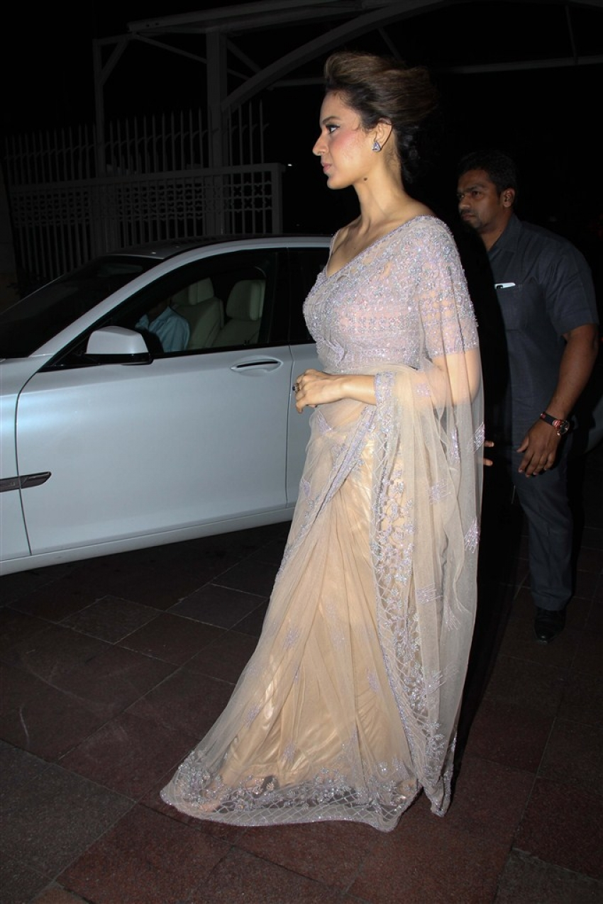 Salman Khan & Kangana Ranaut At Rana Kapoor's Daughter's Sangeeth Ceremony