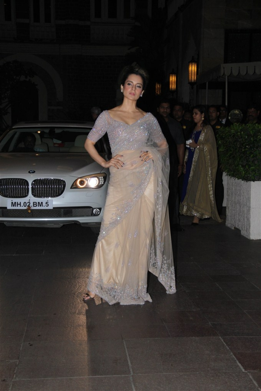 Salman Khan & Kangana Ranaut At Rana Kapoor's Daughter's Sangeeth Ceremony