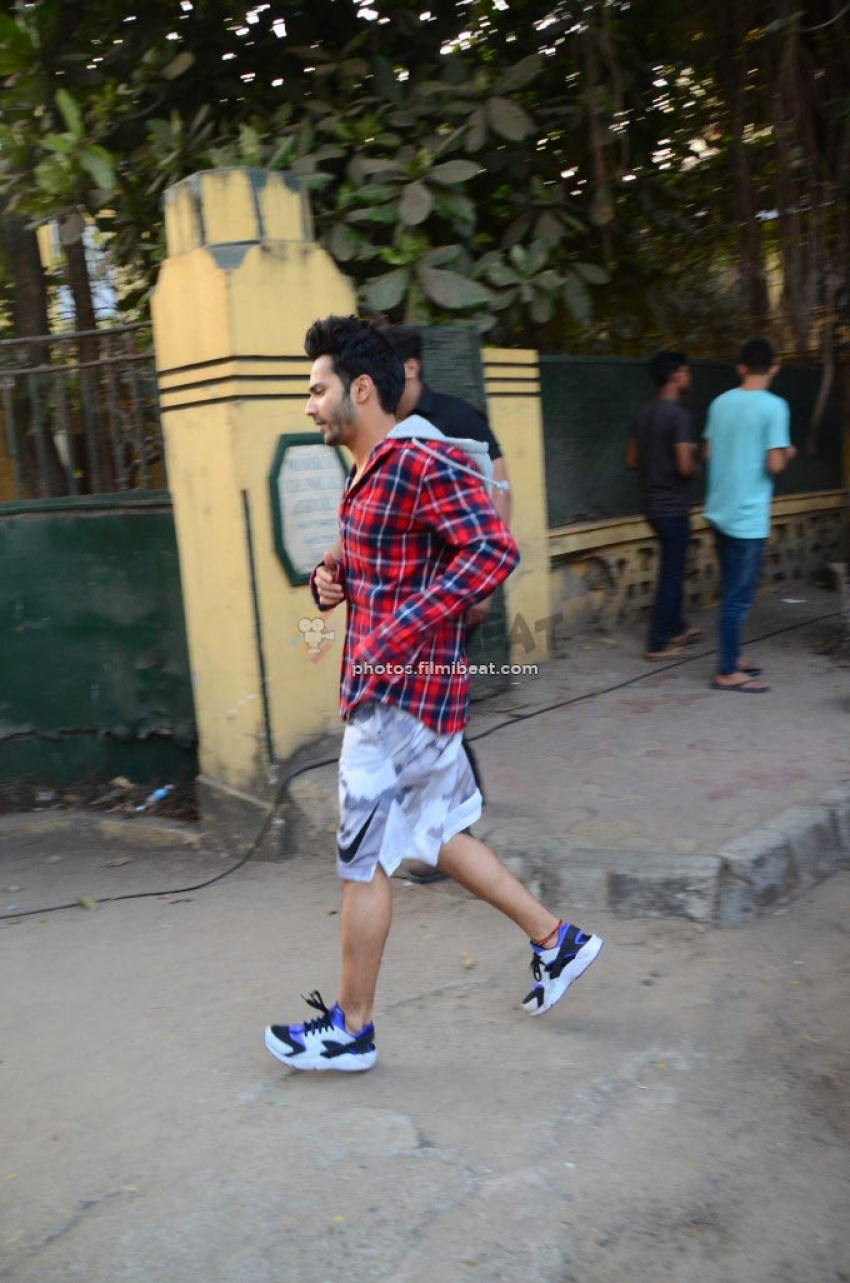 Alia And Varun Dhawan Spotted At Versova For Filmfare Magazine Shoot