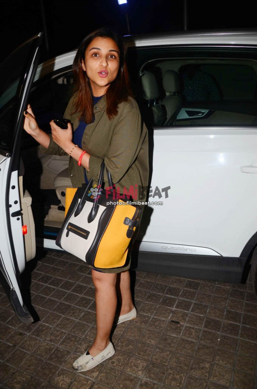 Anushka Sharma And Parineeti Chopra Spotted At Juhu PVR