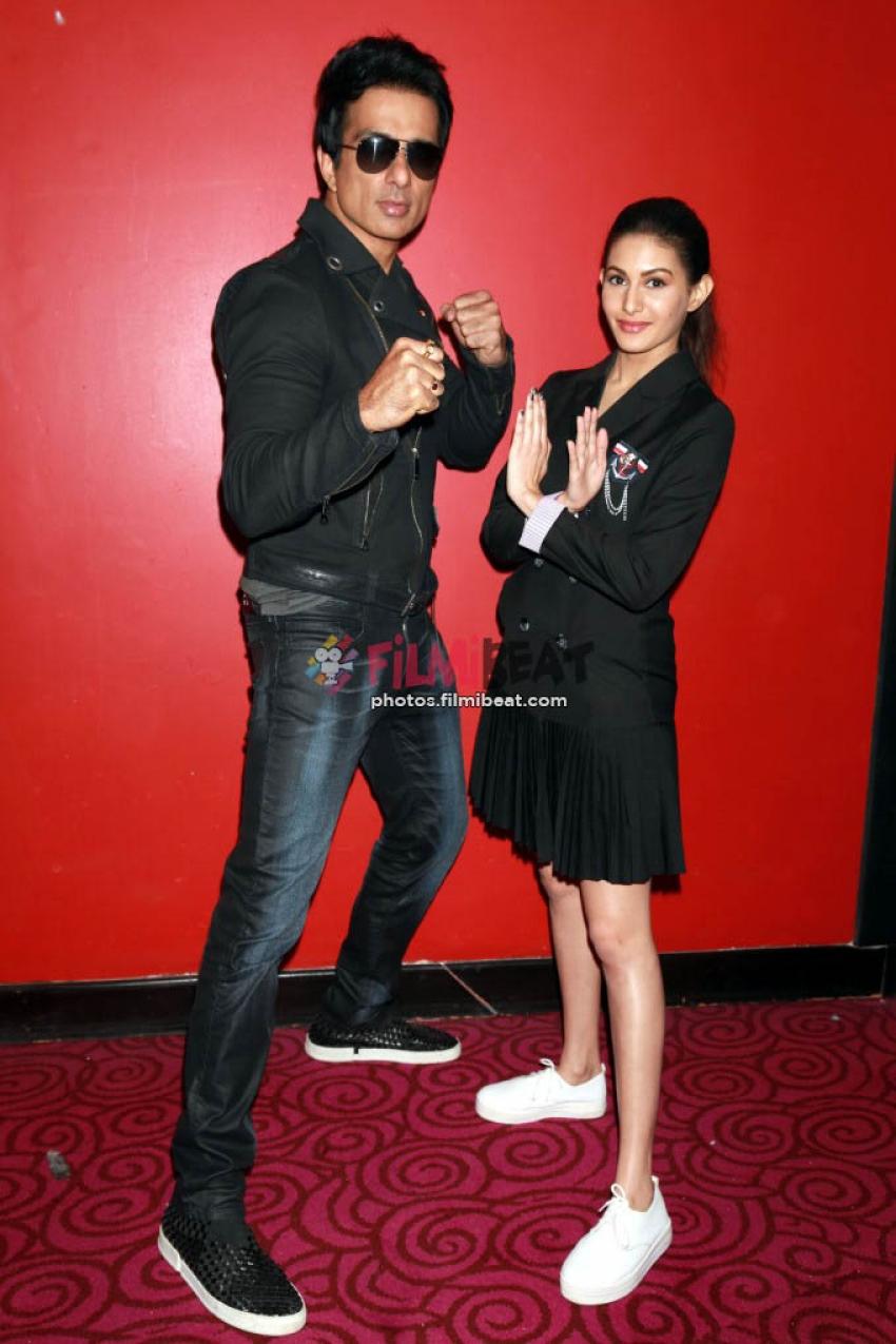Sonu Sood & Amyra Dastur Pressmeet For Kung Fu Yoga In New Delhi