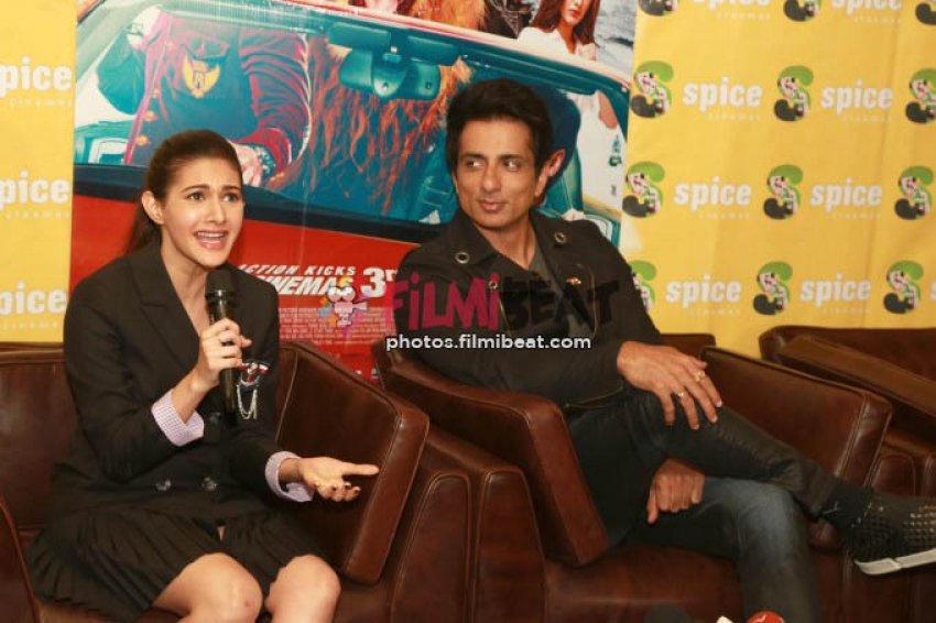 Sonu Sood & Amyra Dastur Pressmeet For Kung Fu Yoga In New Delhi
