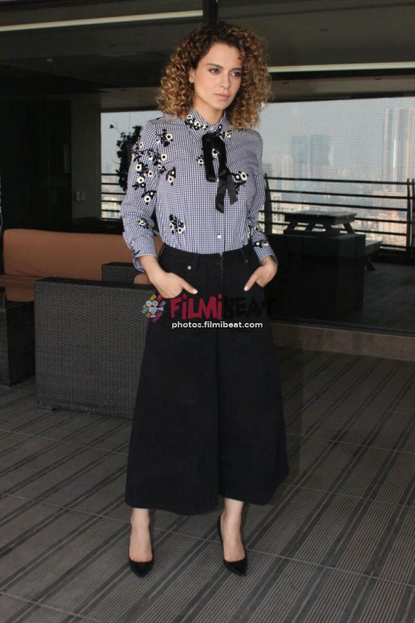 Kangana Ranaut Promotes Rangoon In Mumbai