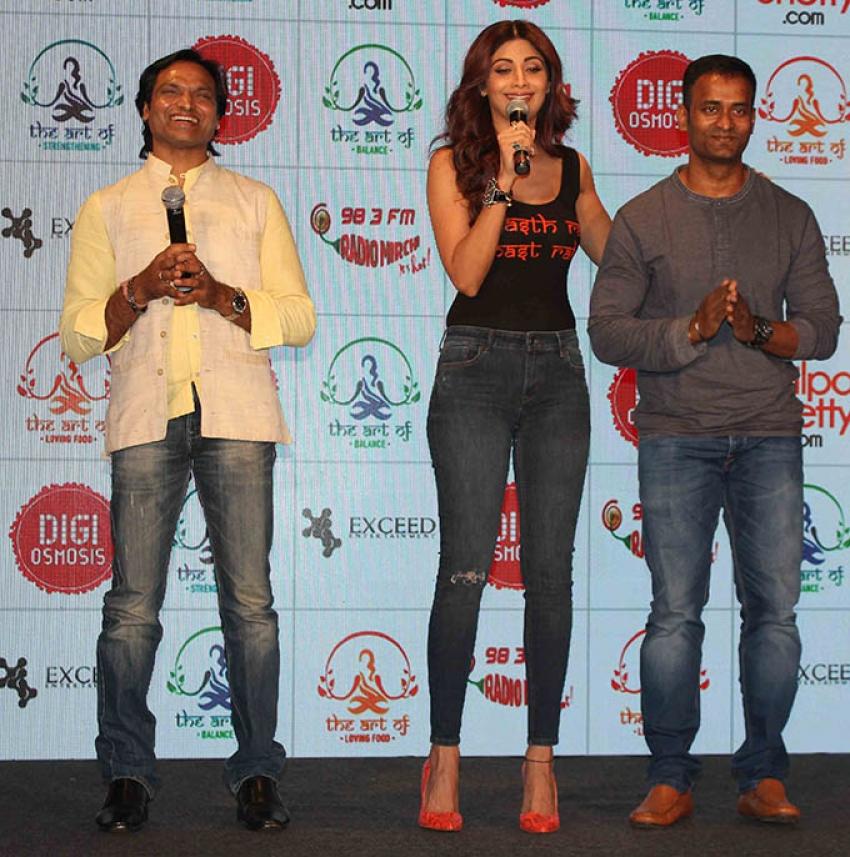 Launch Of Shilpa Shetty Wellness Series By Tiger Shroff Photos