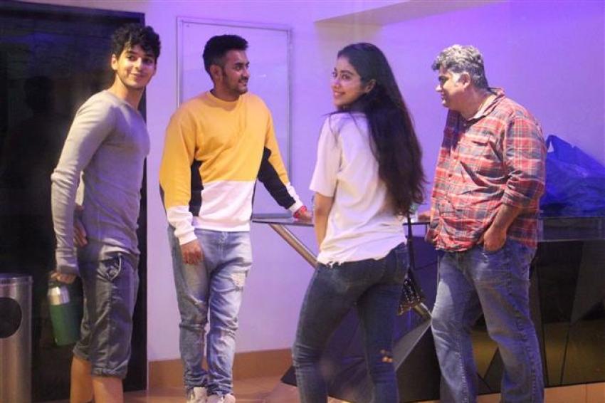 Jhanvi Kapoor & Ishaan Khattar At Baby Driver Screening Photos