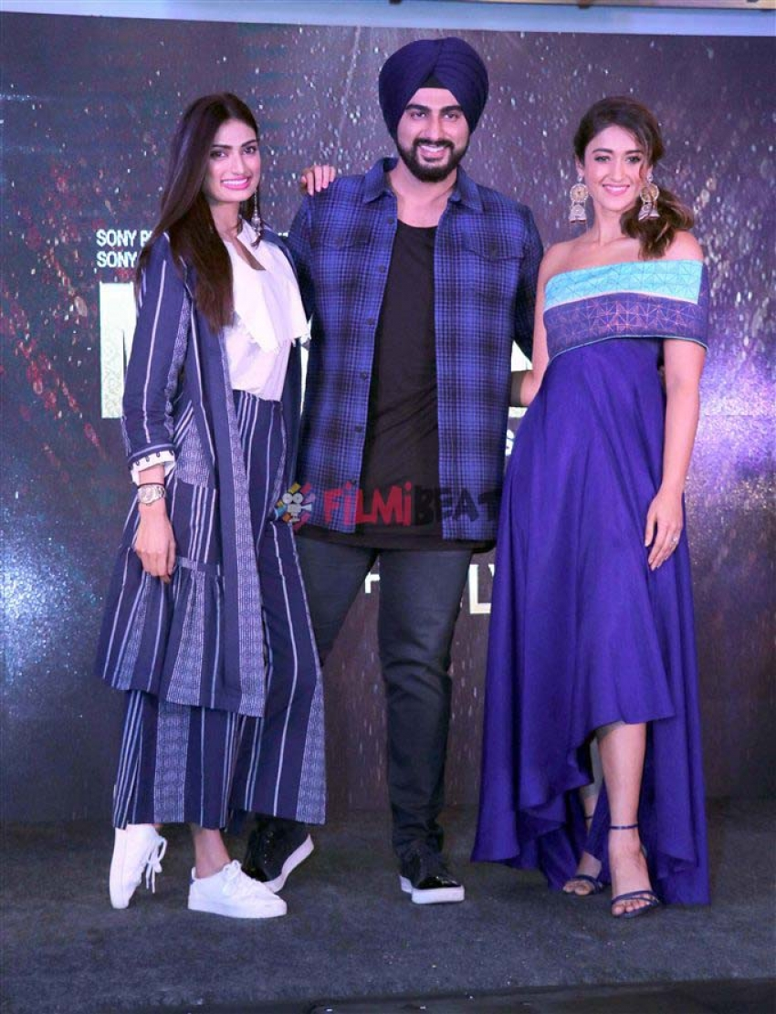 Athiya Shetty , Arjun Kapoor And Ileana D Cruz Promote Mubarakan In Chandigarh Photos