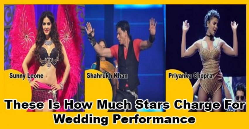 These Is How Much Stars Charge For Wedding Performance Photos