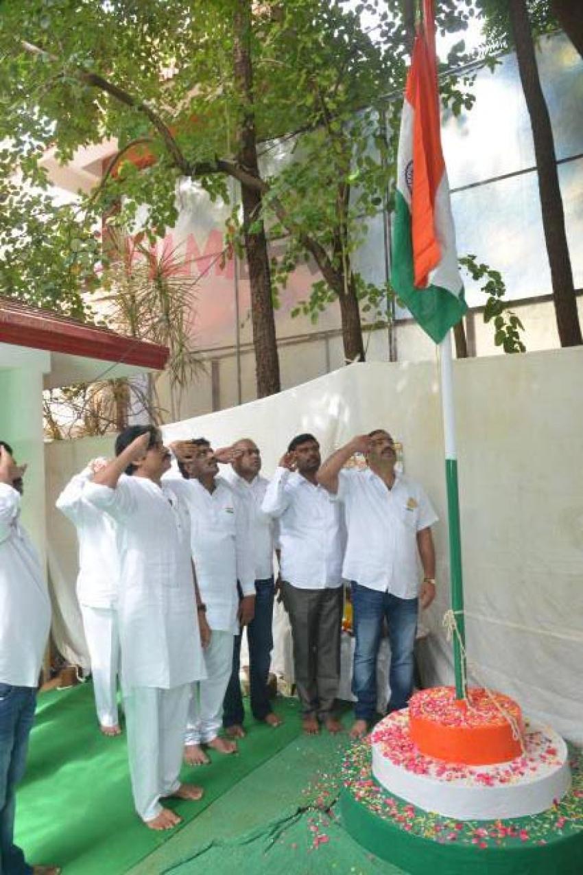 Pawan kalyan Flag Hoisting At Janasena Party Office Photos