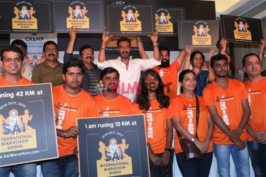 Ajay Devgan At Sai Marathon Shirdi Press Conference Photos