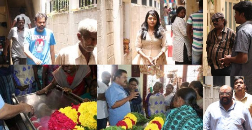 Celebs Paying Condolence To Shanmugasundaram Photos