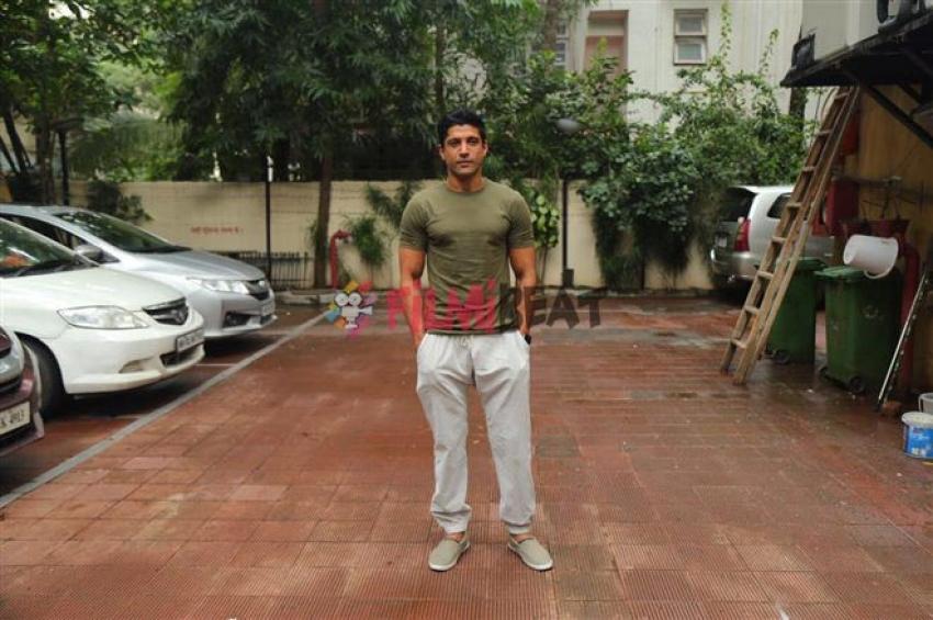 Farhan Akhtar Shoot For No Filter With Neha Dhupia Photos