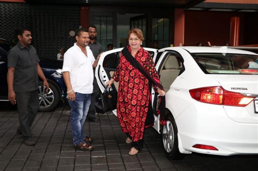 Salman Khan's Sister Arpita And Ahil Celebrate Ganpati Visarjan Photos