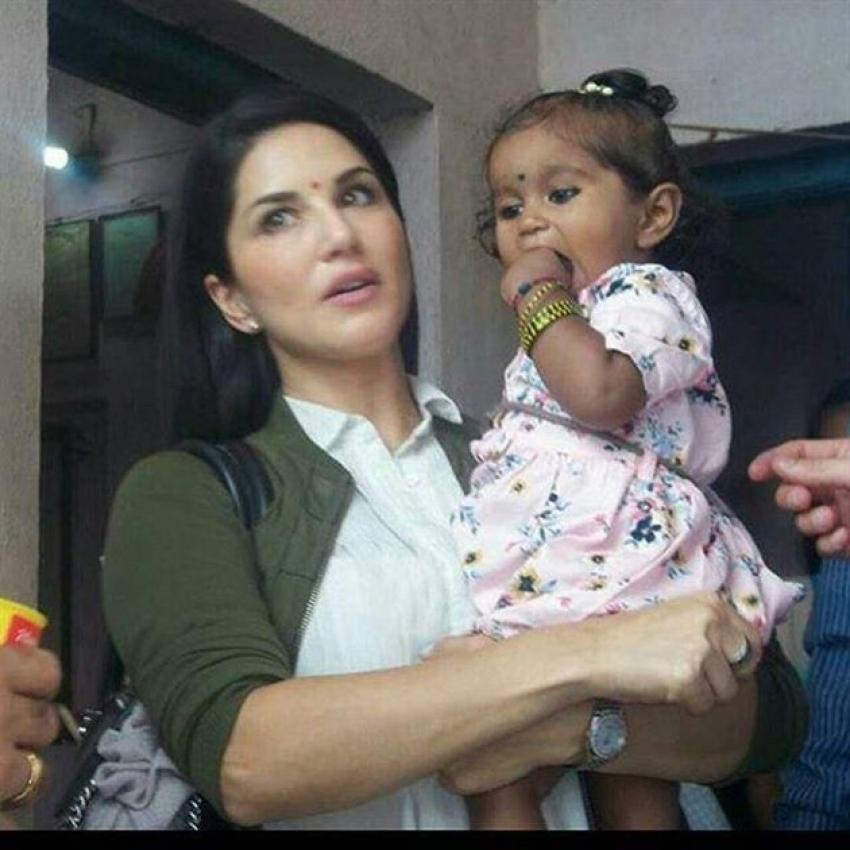 Sunny Leone's Daughter Nisha Kaur Weber Photos