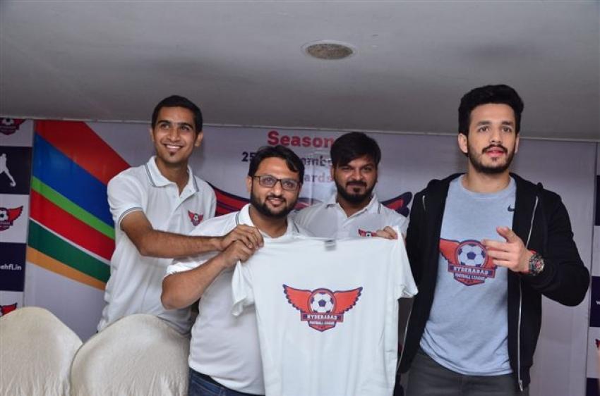 Akhil Akkineni as Brand Ambassador For Hyderabad Football League Photos