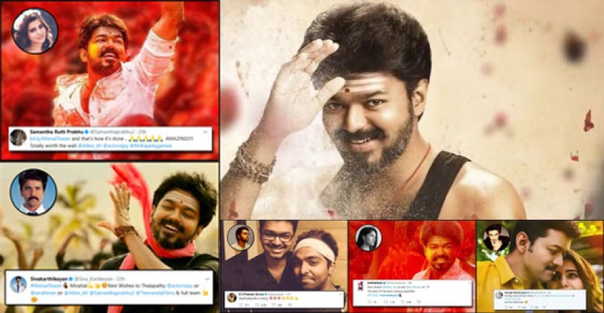 Celebs Reactions To Mersal Teaser Photos