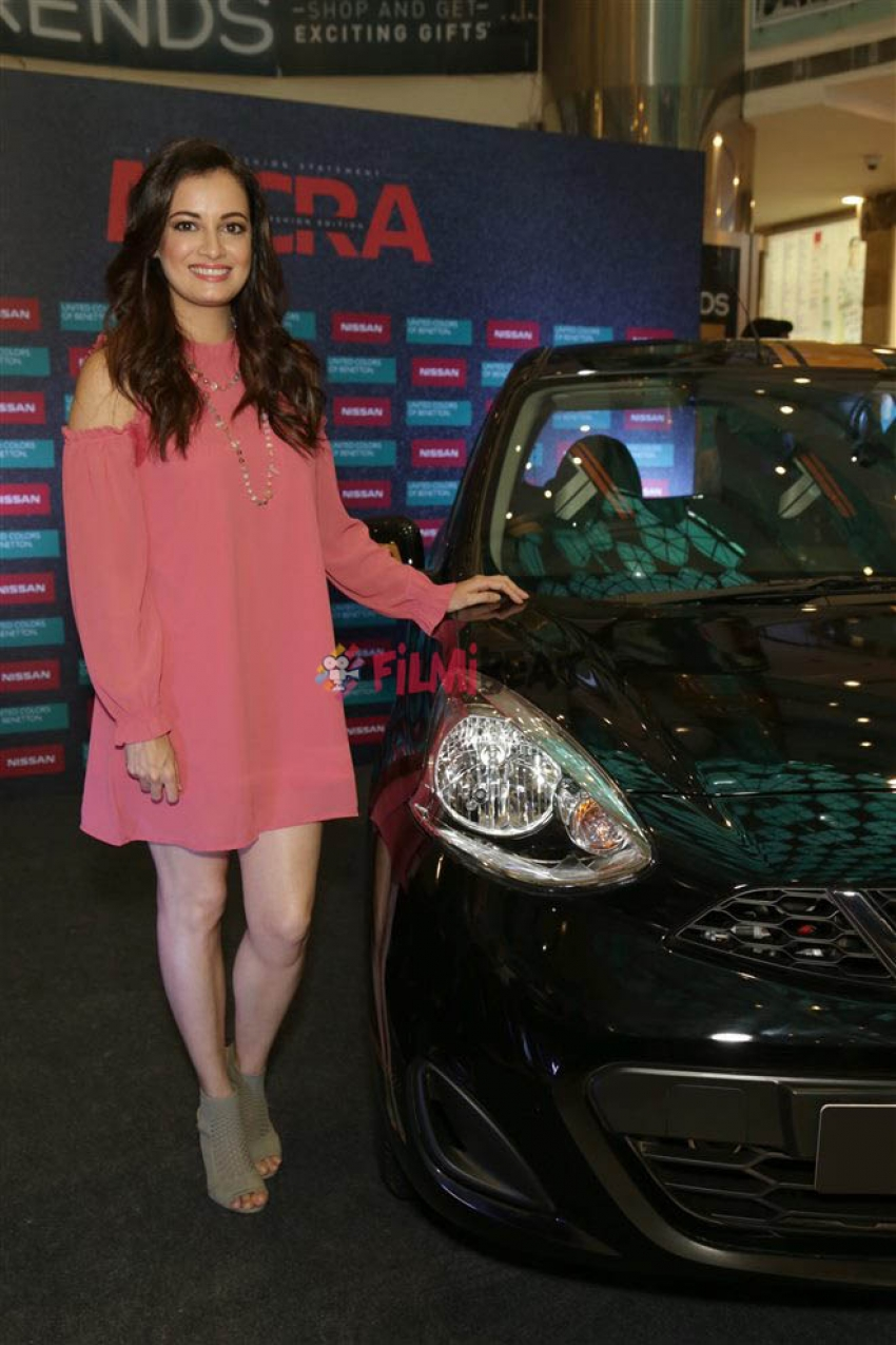 Dia Mirza At Launch Of Nisaan Micra Fashion Edition In New Delhi Photos