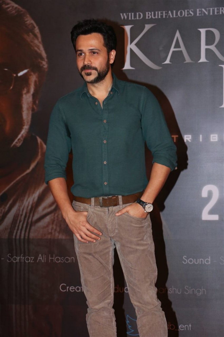 Emraan Hashmi At Karta Tu Dharta Tu Trailer Launch Photos