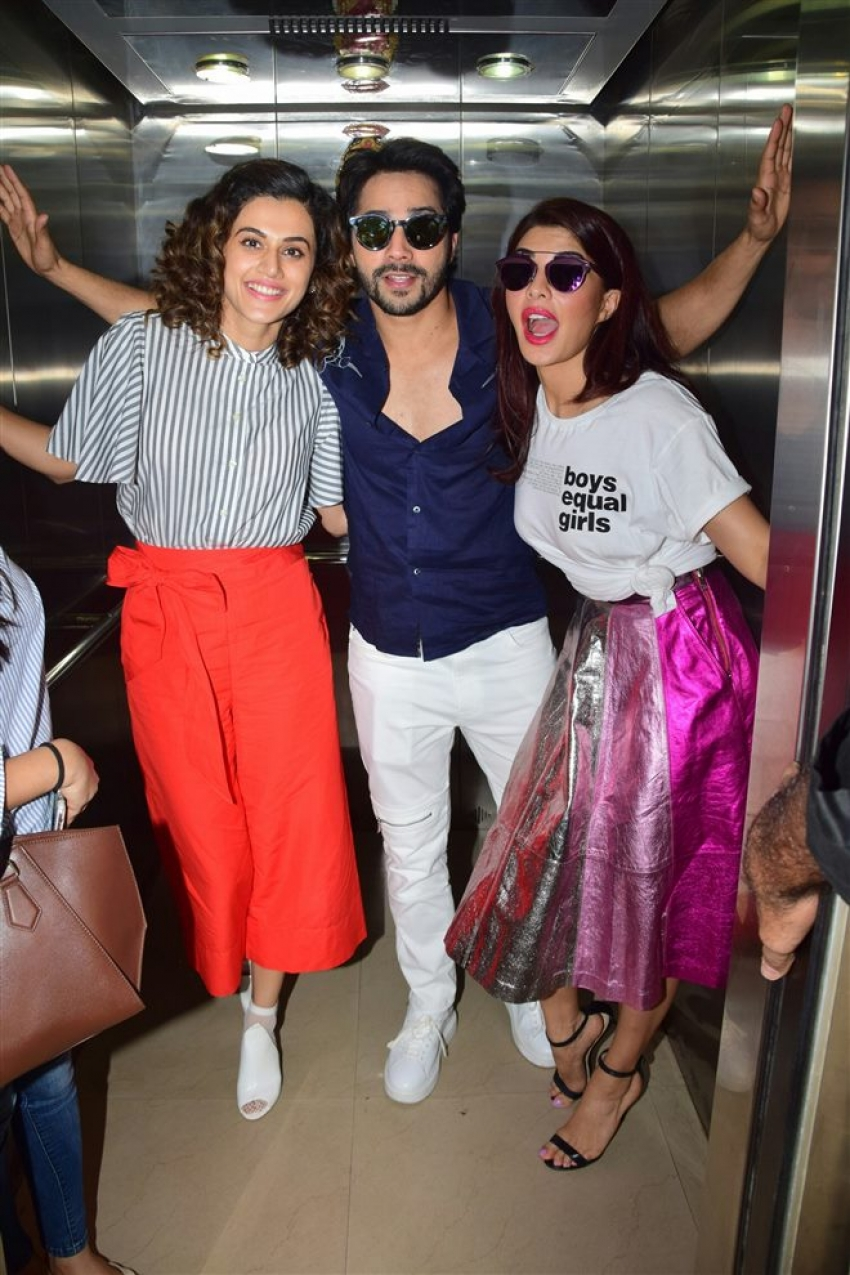 Judwaa 2 Movie Promotion At Radio Mirchi In Mumbai Photos