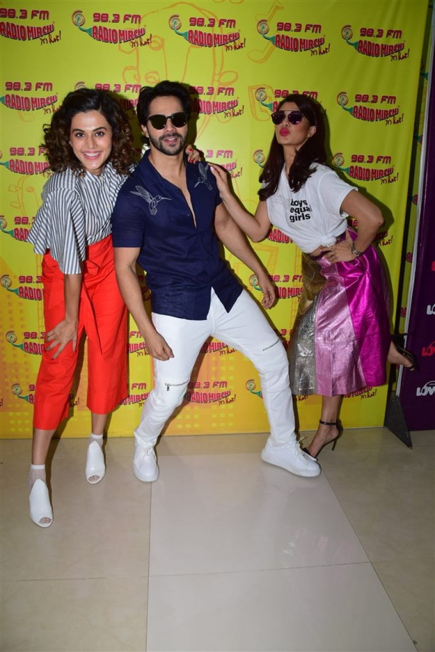 Judwaa 2 Movie Promotion At Radio Mirchi In Mumbai Photos