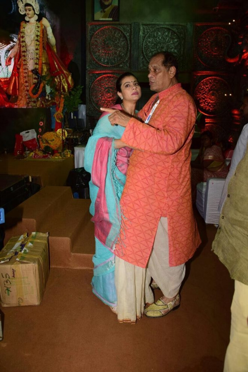 Kajol At Durga Puja In Mumbai Photos