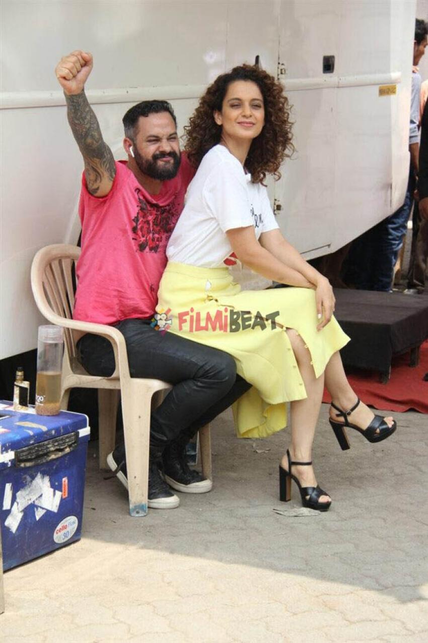 Kangana Ranaut Promote Simran At Mehboob  Studio Simran Photos