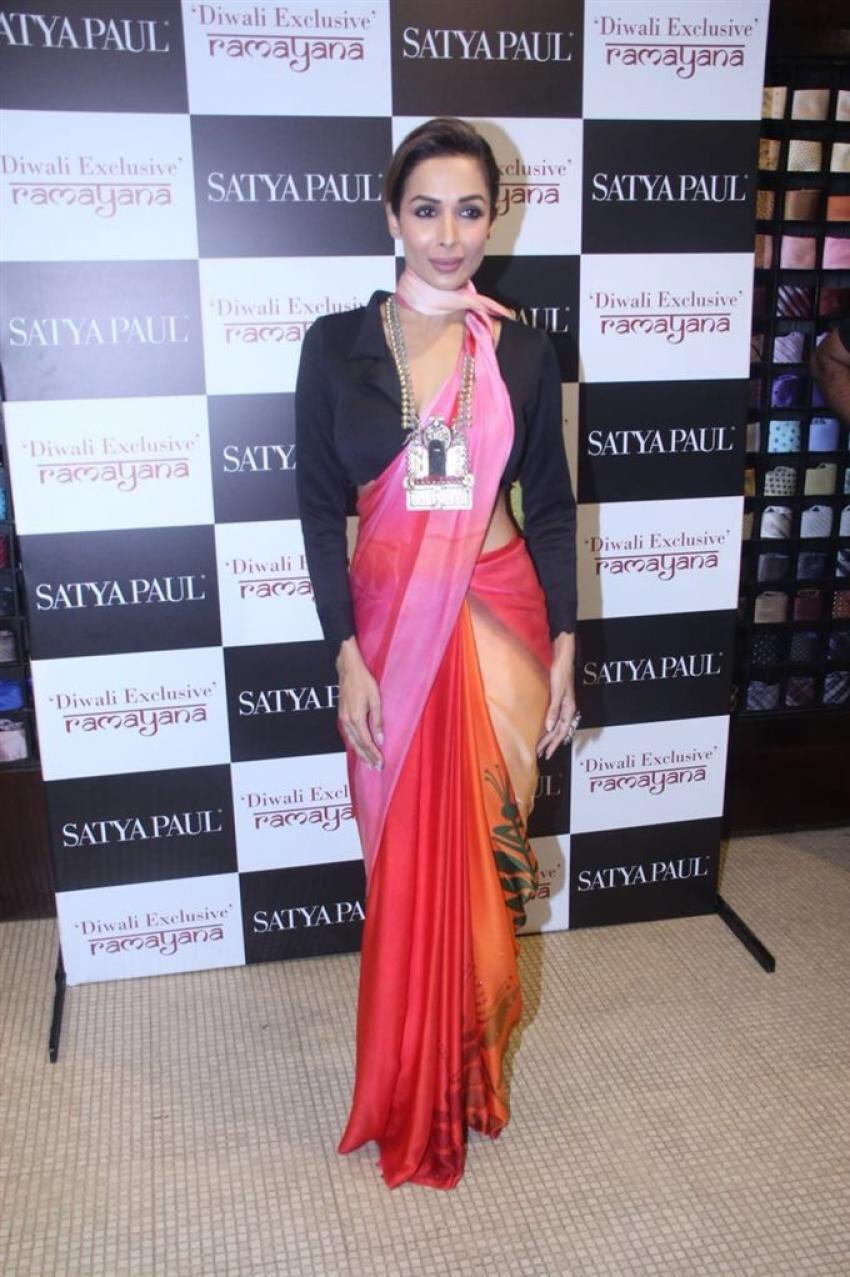 Malaika Arora Launch Ramayana New Saree Collection Photos