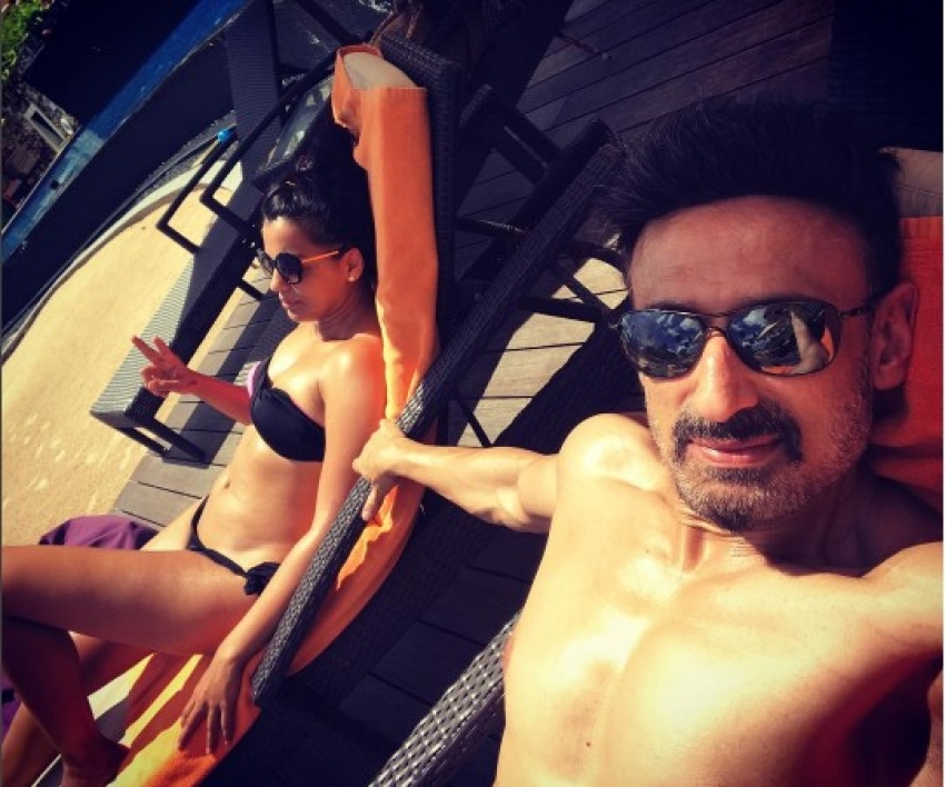 Mugdha Godse Sports Bikini On Her Sri Lankan Trip With Beau Rahul Dev Photos