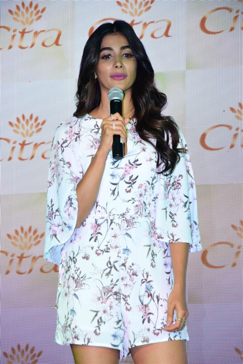 Pooja Hegde Graces The Launch Of Citra Cosmetics Photos