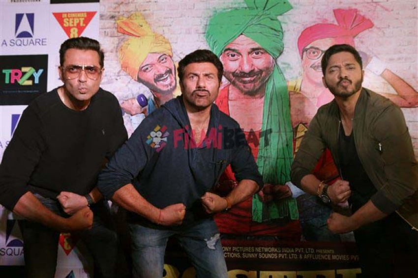 Poster Boys Movie Promotion In New Delhi Photos