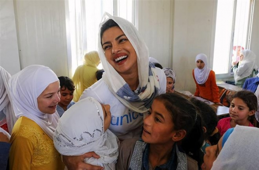 Priyanka Chopra visits Syrian refugees in Jordan with UNICEF Photos