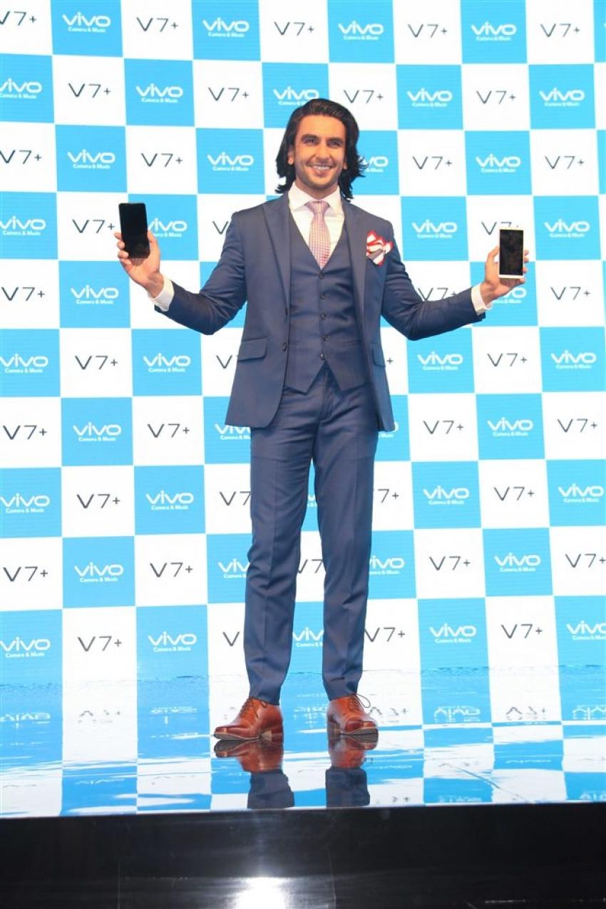 Ranveer Singh At New Vivo Mobile Launch Photos