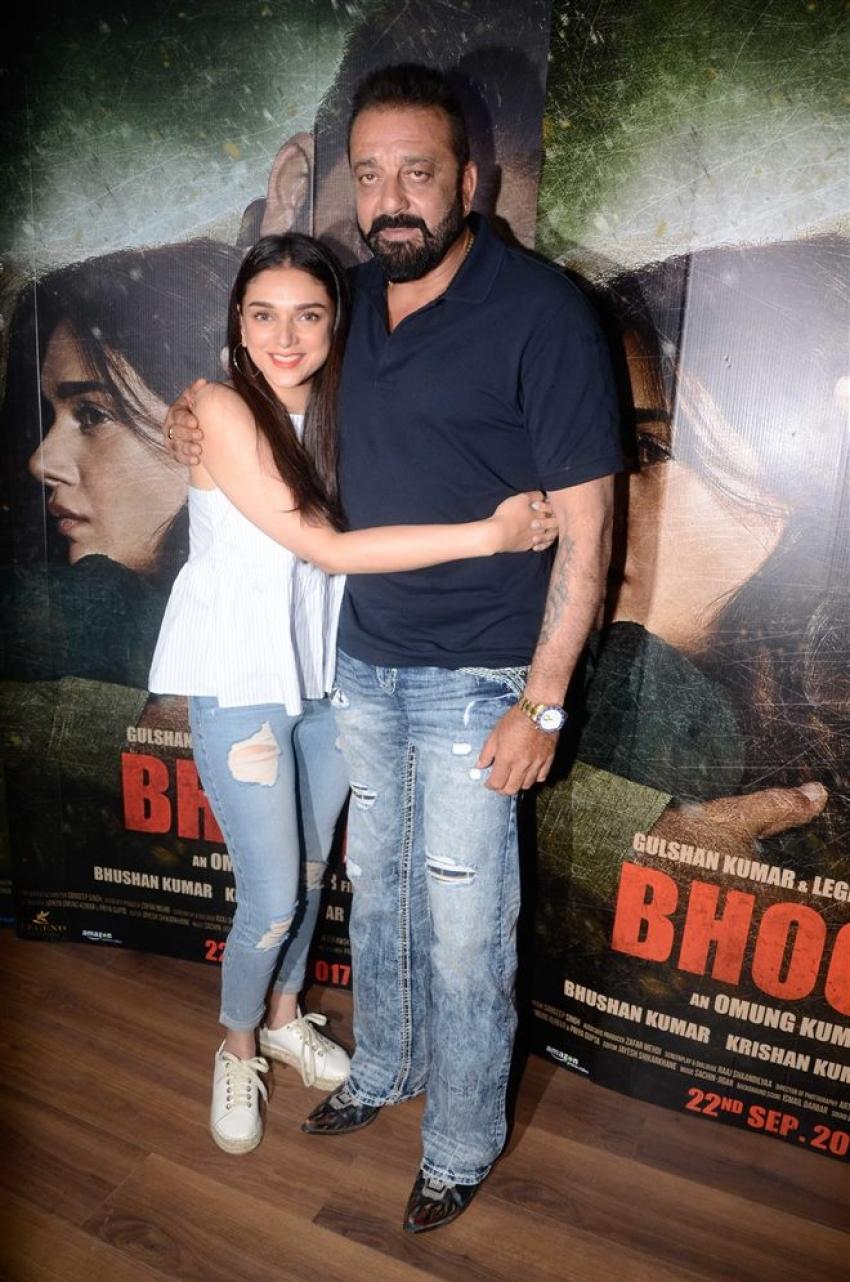 Sanjay Dutt & Aditi Rao Hydari Promote Bhoomi Photos