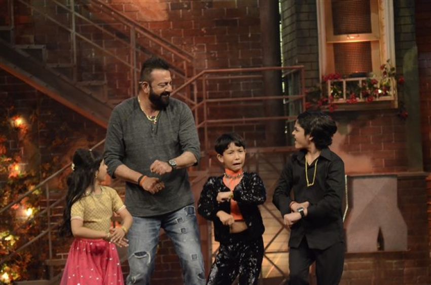 Sanjay Dutt Promote Bhoomi On The Set Of Comedy Dangal
