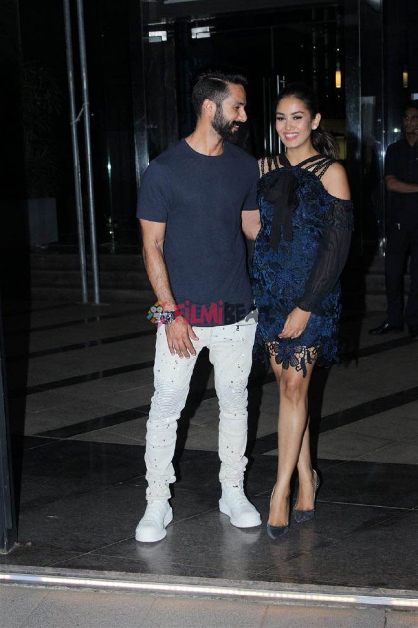 Shahid Kapoor Celebrates Mira Rajput 23rd Birthday Photos