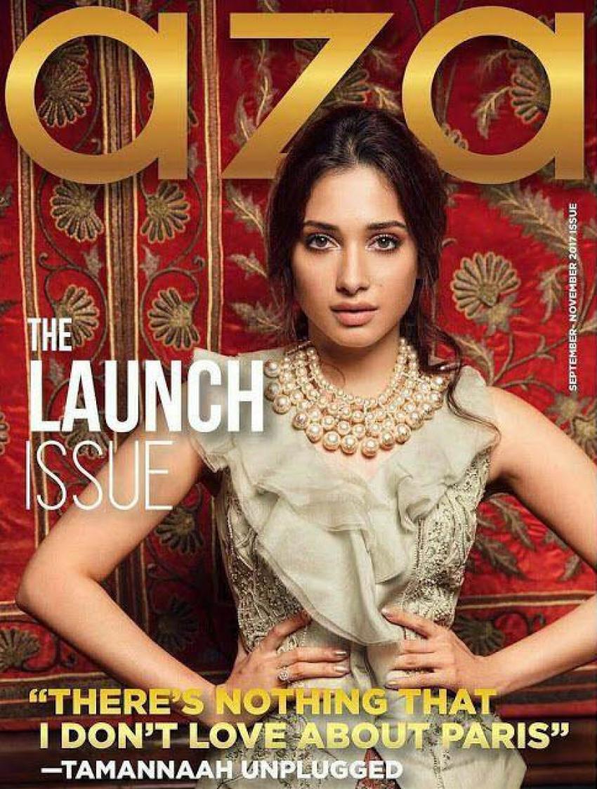 Tamannaah Poses For Aza Fashion Magazine 2017 Photos