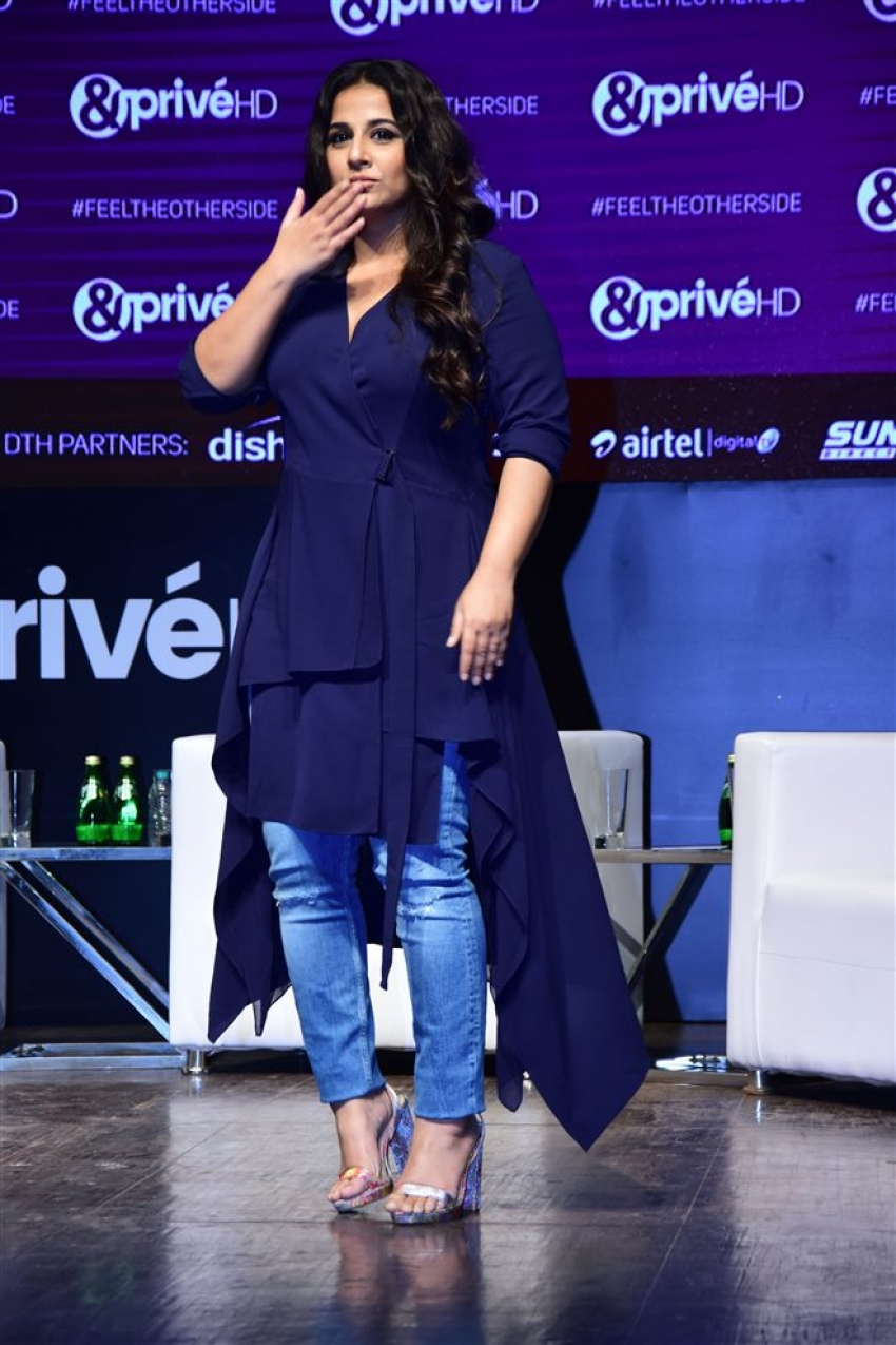 Vishal Bhardwaj ,Vidya Balan & Konkana Sen Sharma Launch &Prive HD Channel Photos