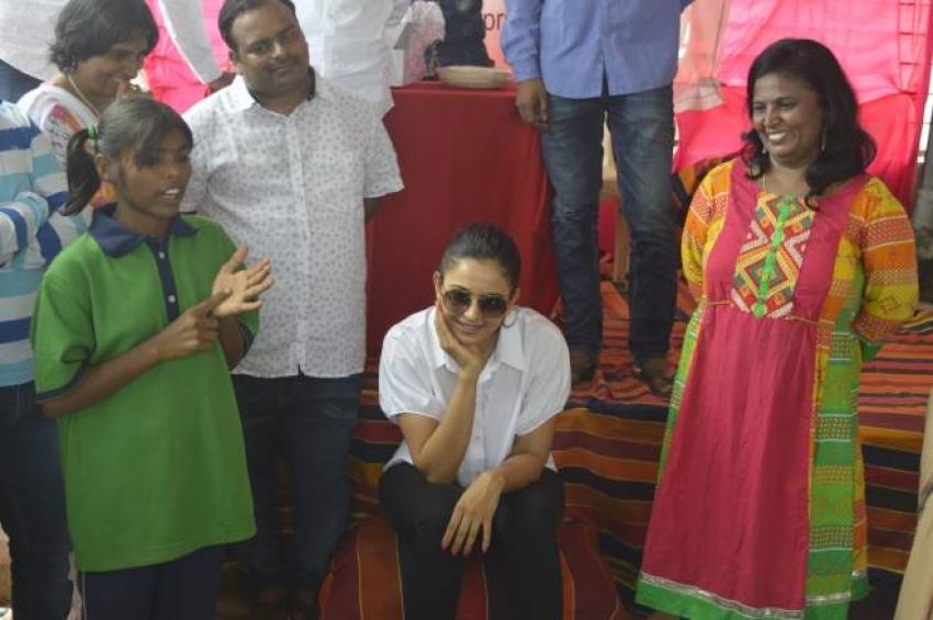 Rakul Preet Singh Birthday Celebration at Cherish Orphanage Home