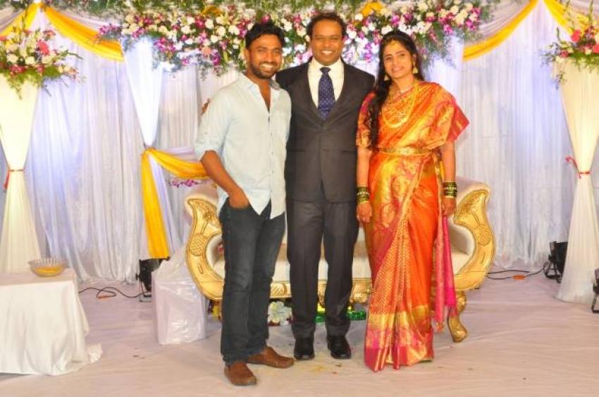 Comedian Harish Wedding Reception Photos