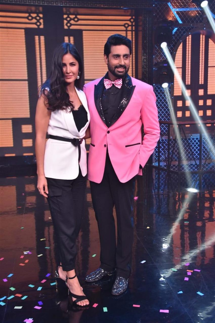 Abhishek And Katrina On The Set Of Lip Sing Battle With Farah Khan Photos