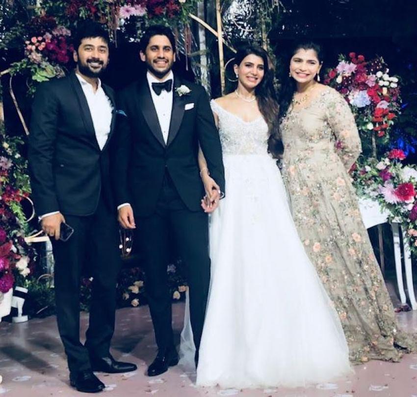 Akkineni Naga Chaitanya & Samantha Christian Wedding Ceremony Photos