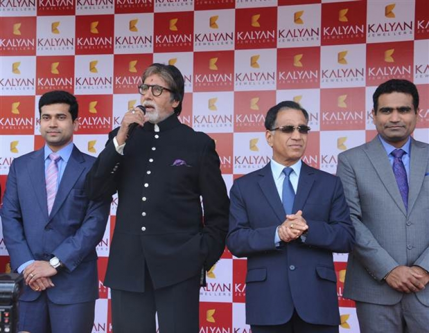 Amitabh Bachchan And Jaya Bachchan At Launch Of Kalyan Jewellers Store In Bhopal Photos