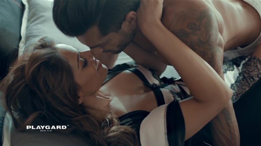 Bipasha Basu & Karan Singh Grover Romantic Playgard Condoms Photos