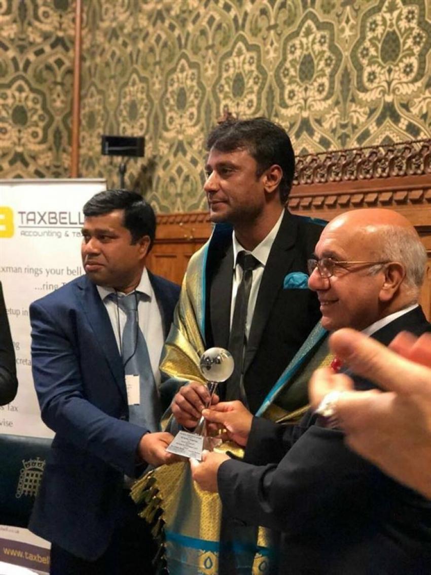 Darshan Thoogudeep Receives The Global Diversity Award From UK Parliament Photos