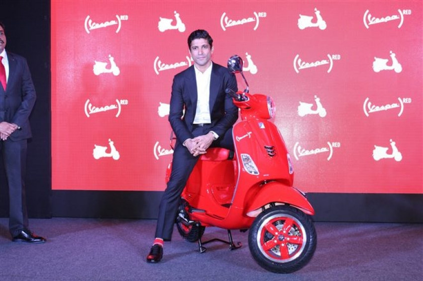 Farhan Akhtar Launch 2017 New Edition Of Vespa