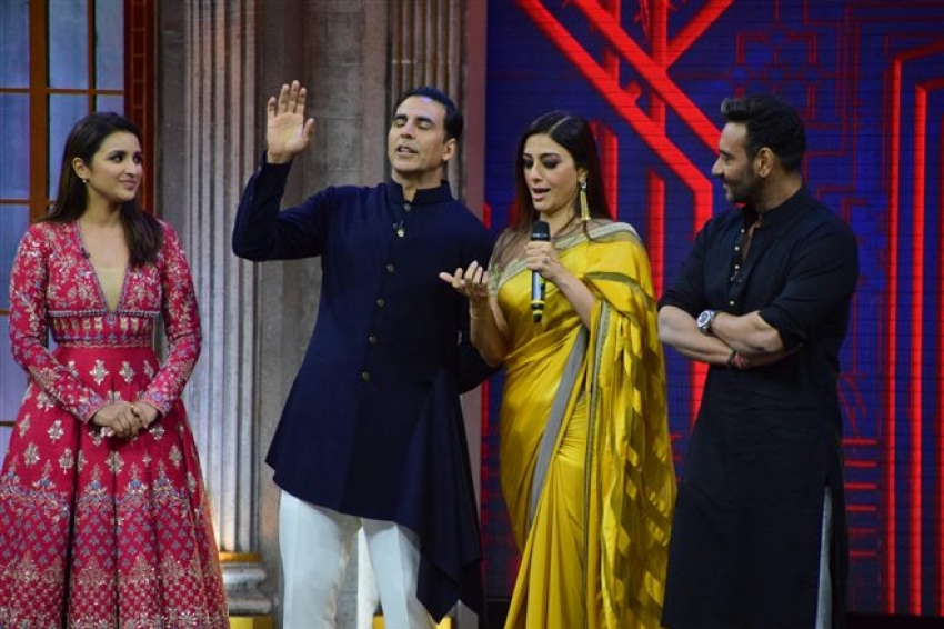 Golmaal Again Promotion On The Sets Of The Great Indian Laughter Challenge Photos