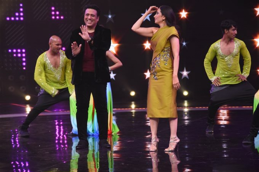 Govinda And Karishma On The Set Of Dance Champions At Filmcity Photos